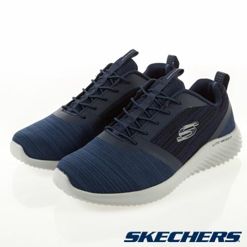 帝安諾-實體店面 SKECHERS BOUNDER 深藍 慢跑鞋 健走鞋 休閒鞋 52504