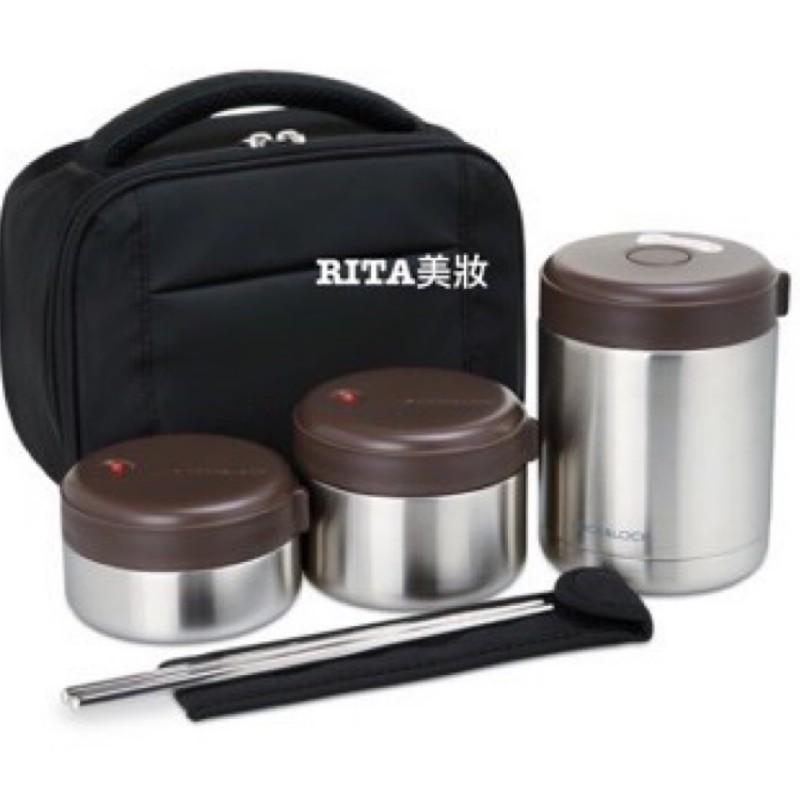 【RITA美妝】Lock&Lock 樂扣樂扣 不鏽鋼保溫餐盒提袋5件組/含筷 附提袋 $900 🎁宅配免運