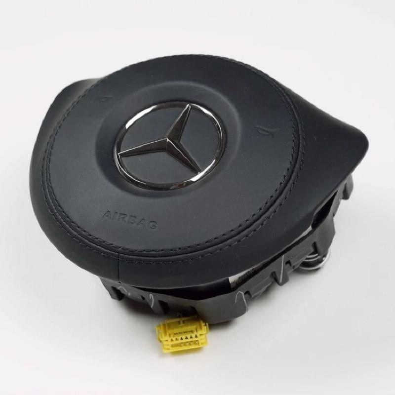原廠 賓士 W205 AMG 方向盤 真皮、麂皮縫線氣囊