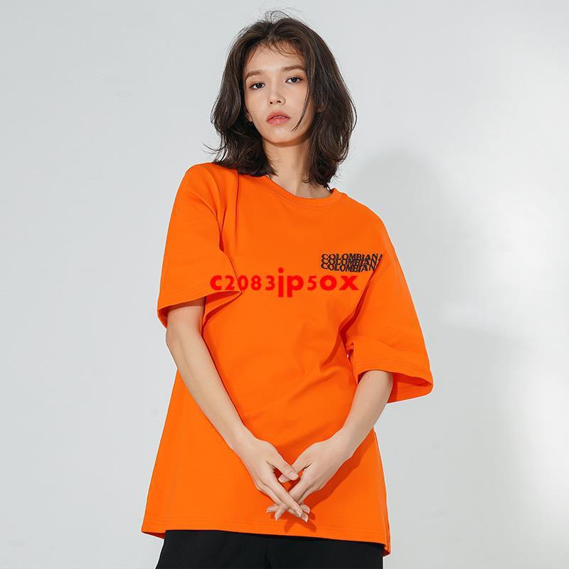 CBIANA/21SS 潮牌短袖T恤喻言同款半袖體恤寬松嘻哈街頭情侶tee
