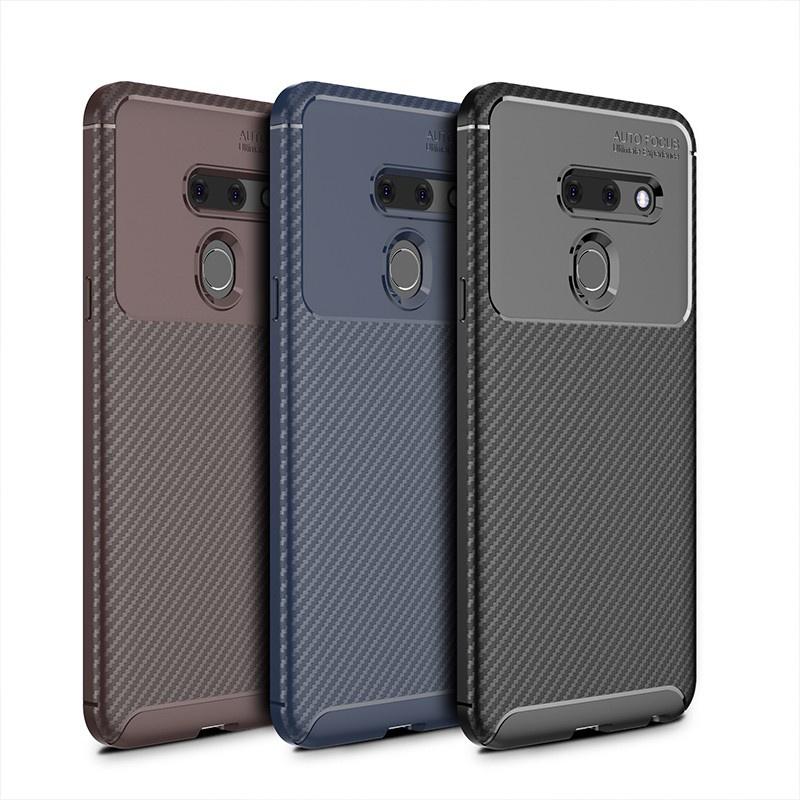 新LG手機殼 保護套 防摔殼 0414# 男女新款LG G8 ThinQ手機殼lg g8ThinQ保護套碳纖維防摔軟殼商