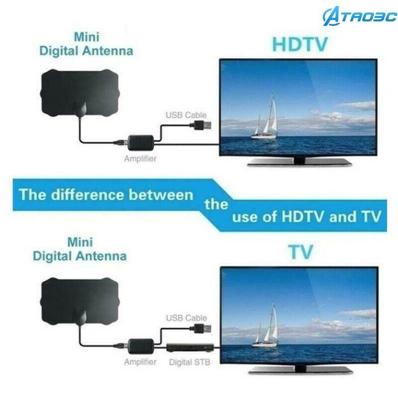 960英里範圍天線電視數字高清HDTV 1080p Skywire 4K天線數字室內tao3c