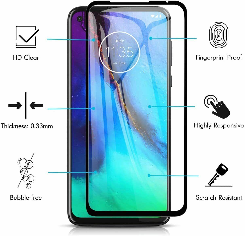 適用於 Google Pixel 5 / Pixel 4a 5g 全屏鋼化玻璃保護膜黑色絲印保護膜鋼化膜