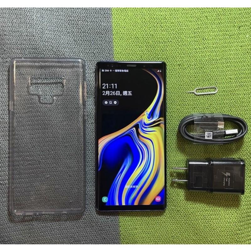 Samsung Note9 128G 85成新 藍 6.4吋 雙卡雙待 虹膜辨識 三星 n9 二手機 中古機 銀幕有刮傷