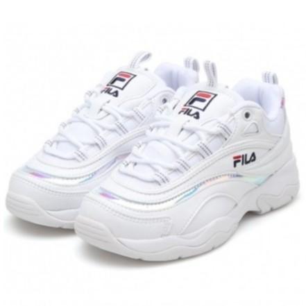 Fila Ray 라레이 韓版 全白 雷射 老爹鞋FS1SIA3060X-WWT剩 22 23 27 [Q1現貨]
