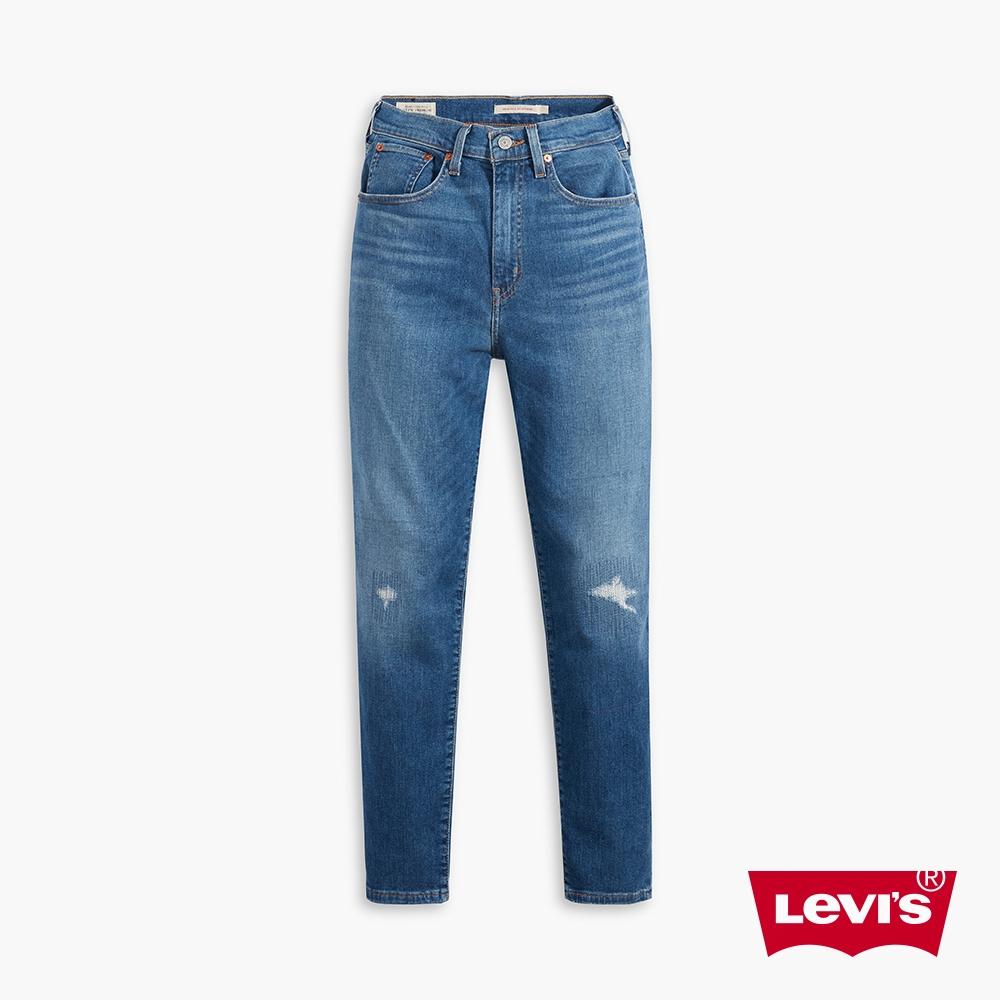 Levis 高腰男友褲 上寬下窄寬鬆牛仔褲 義大利Candiani頂級丹寧 彈性-人氣新品 85873-0065