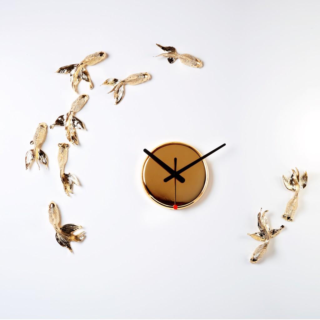 haoshi 良事設計 金魚時鐘 金色限定版