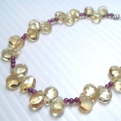 『晶鑽水晶』天然黃水晶手鍊 幸運草型鑽石切割角度~光亮度超佳 強力招財
