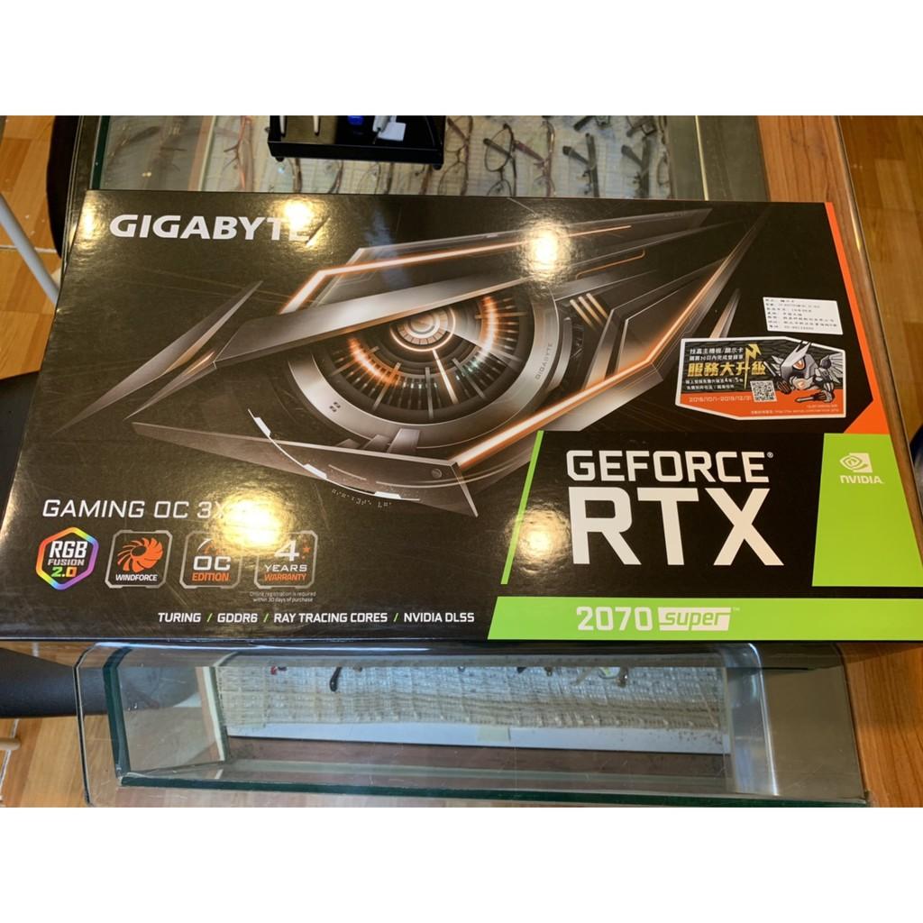 二手)技嘉 GeForce RTX 2070 SUPER GAMING OC 8G 顯示卡