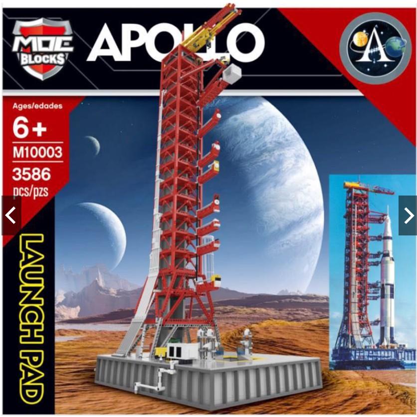 anna現貨- 王牌M10003 創意系列 火箭發射架 農神5號運載火箭 改良升級版/相容樂高 21309
