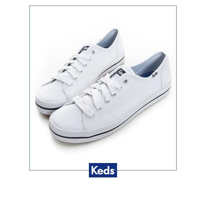 【Keds】中性基本綁帶休閒鞋9171W130035-白色/ 女-原價1690元