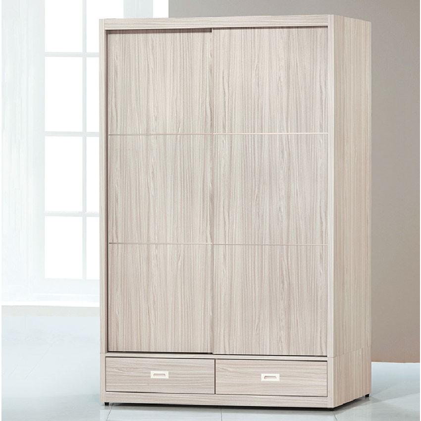 【141cm衣櫃-K16-3157】木心板 推門滑門開門 衣服收納 免組裝 【金滿屋】