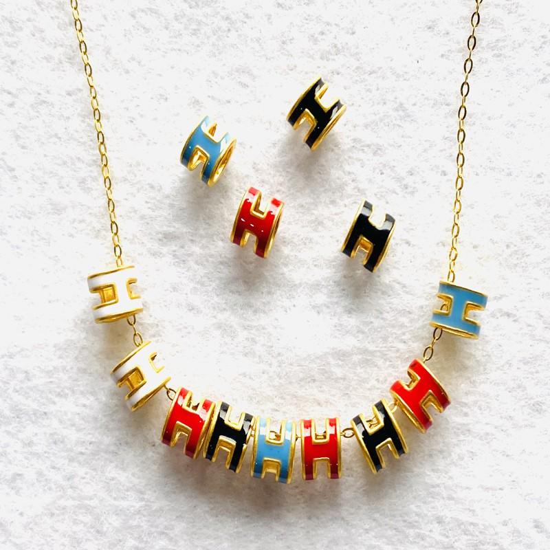 9999純金 黃金H字母 約0.02-0.03錢 多色可選 + 925 純銀金色項鍊 黃金項鍊 生日禮物 金喜飛來