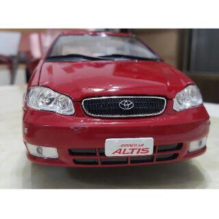 1:18 1/ 18 豐田 Toyota Corolla Altis 11代 金屬模型車 紅色 桃園市