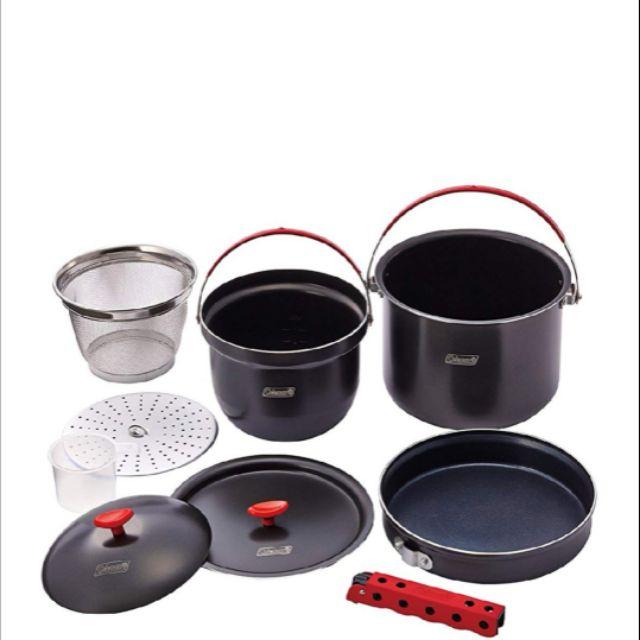 Coleman CM-26764 硬鋁鍋具組 套鍋組 硬鋁不沾鍋 戶外炊事鍋 露營萬用鍋