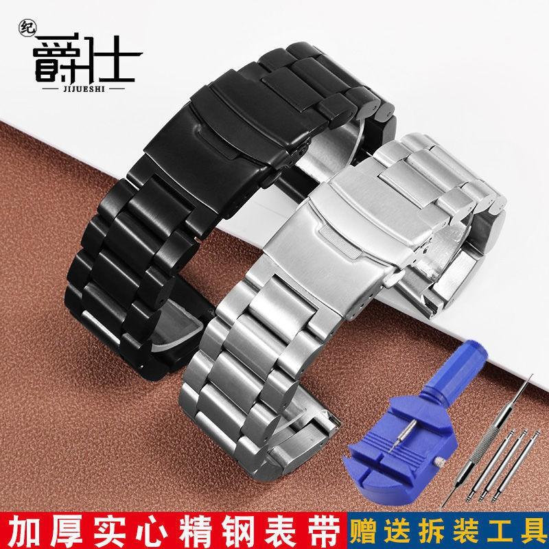LUMINOX BREITLING 大號鋼帶手鍊 Panerai 警察發光黑色加厚不銹鋼錶帶時尚