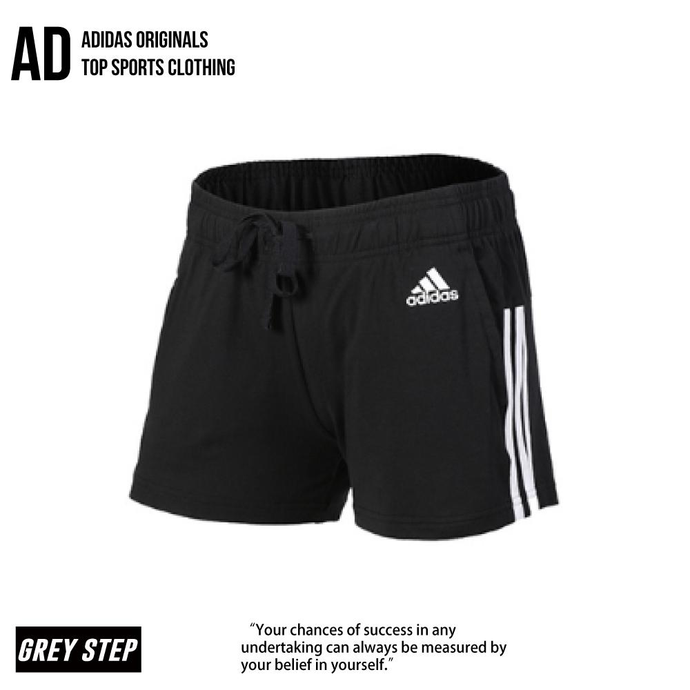 Adidas 愛迪達 運動短褲 休閒短褲 慢跑褲 三線 短褲 BR5963 黑白 運動 女 全新正品 統一發票