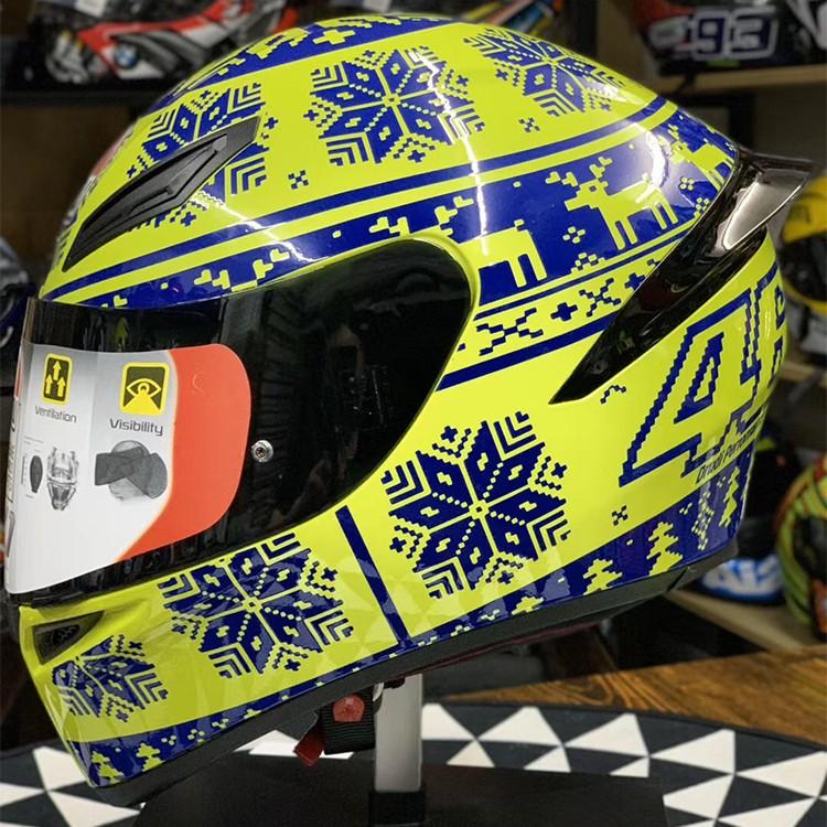 雙D扣 AGV 安全帽 K1 ❉雪花 全罩式安全帽 摩托車 賽車 機車 電動車 全覆式防霧頭盔 男女四季通用 k1頭盔