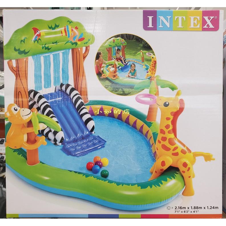 【小如的店】COSTCO好市多代購~INTEX 英泰斯 叢林樂園戲水池/泳池(216*188*124cm)