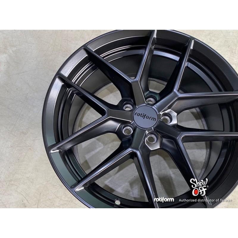 高雄人人輪胎 rotiform flg 18吋 19吋 鋁圈 5孔 112 114.3 108 8.5 ET45 消光黑