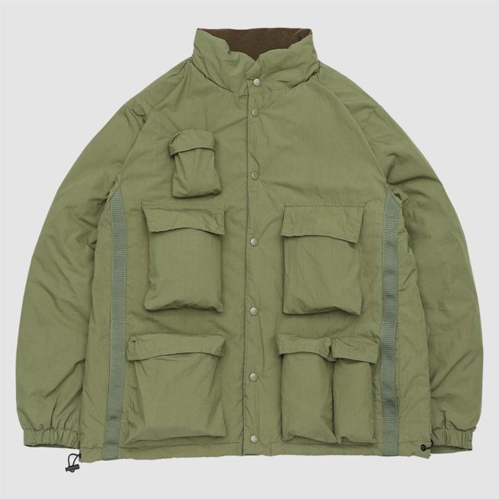 【奎斯特】QUEST SAFARI JKT- 獵裝外套 鋪棉 立領 多口袋 / 綠