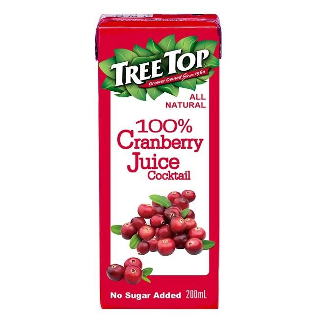 樹頂100%蔓越莓綜合果汁200mlx6包  【大潤發】