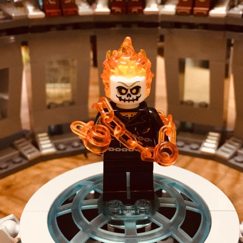 Lego 76058 惡靈戰警+烈焰機車,拆封擺飾未把玩,品項佳