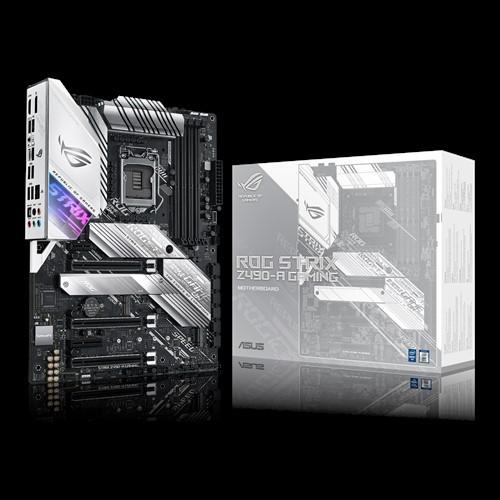 捷特 華碩 ROG STRIX Z490-A GAMING 白色主機板