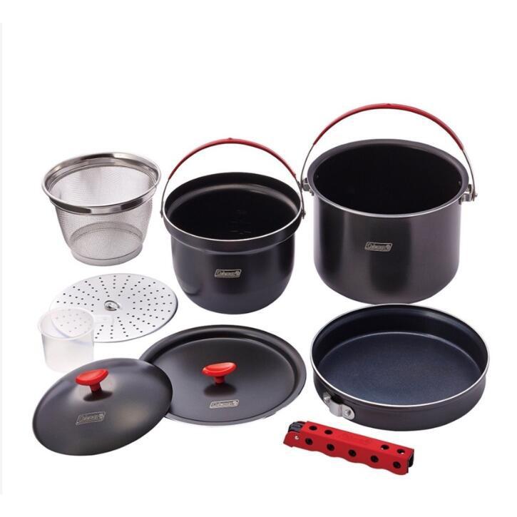 日本代購 Coleman CM-26764 露營 鍋  硬鋁鍋具組 套鍋組 硬鋁不沾鍋 戶外炊事鍋