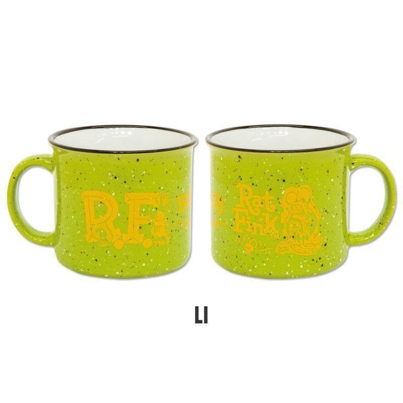 RAT FINK - RAF573 Campfire Mug Cup 大容量 馬克杯 / 湯杯 (綠色) 化學原宿