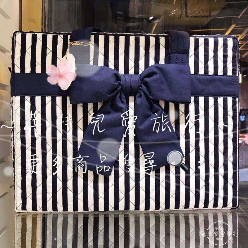 🇹🇭蓓特兒愛旅行🇹🇭最新 泰國曼谷包 NaRaYa娜萊雅 ⚓️海軍風藍白直條紋 蝴蝶結旅行袋(M)