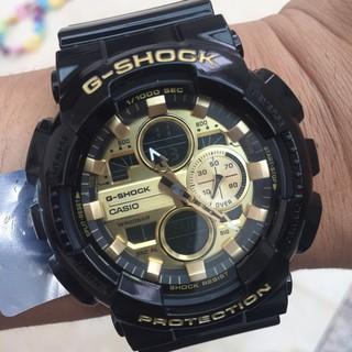 CASIO 卡西歐 G-SHOCK 防水 防震 運動電子手錶 潮流時尚手錶 黑金 男錶 GA-140GB-1A1 桃園市