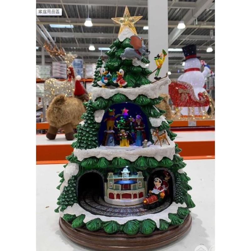 含運📣現貨不用等✨好市多《聖誕節必備🎄》-17.5吋 LED迪士尼經典人物音樂火車聖誕樹