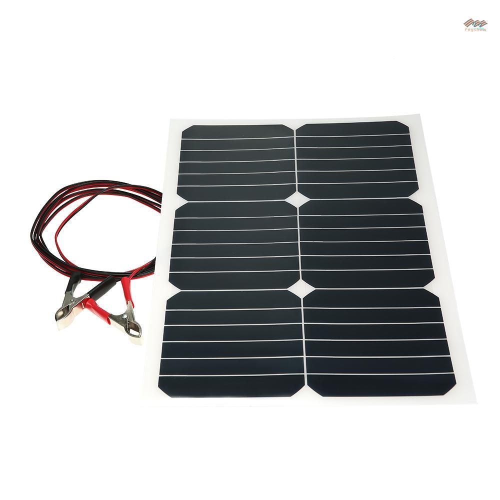 【現貨免運】20W 12V 單晶半柔性太陽能面板帶Sunpower芯片用於電池充電器船