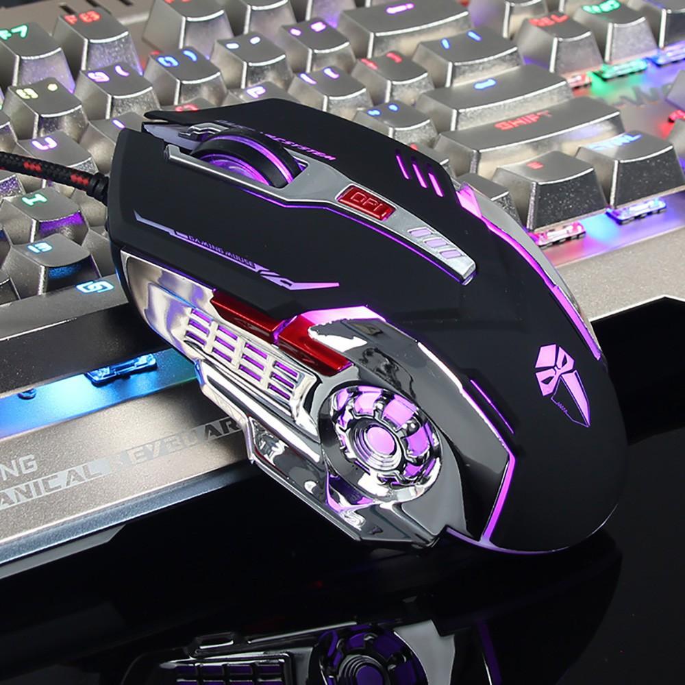 羅摩X5鼠標 滑鼠 遊戲有線 電競機械滑鼠 筆記本遊戲滑鼠 USB接口3色LED燈 可調DPI   禮物
