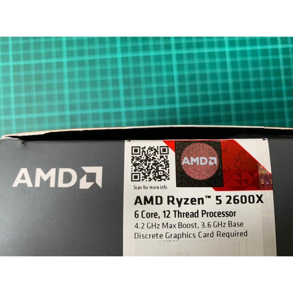 2600X 完整盒裝 CPU 二手