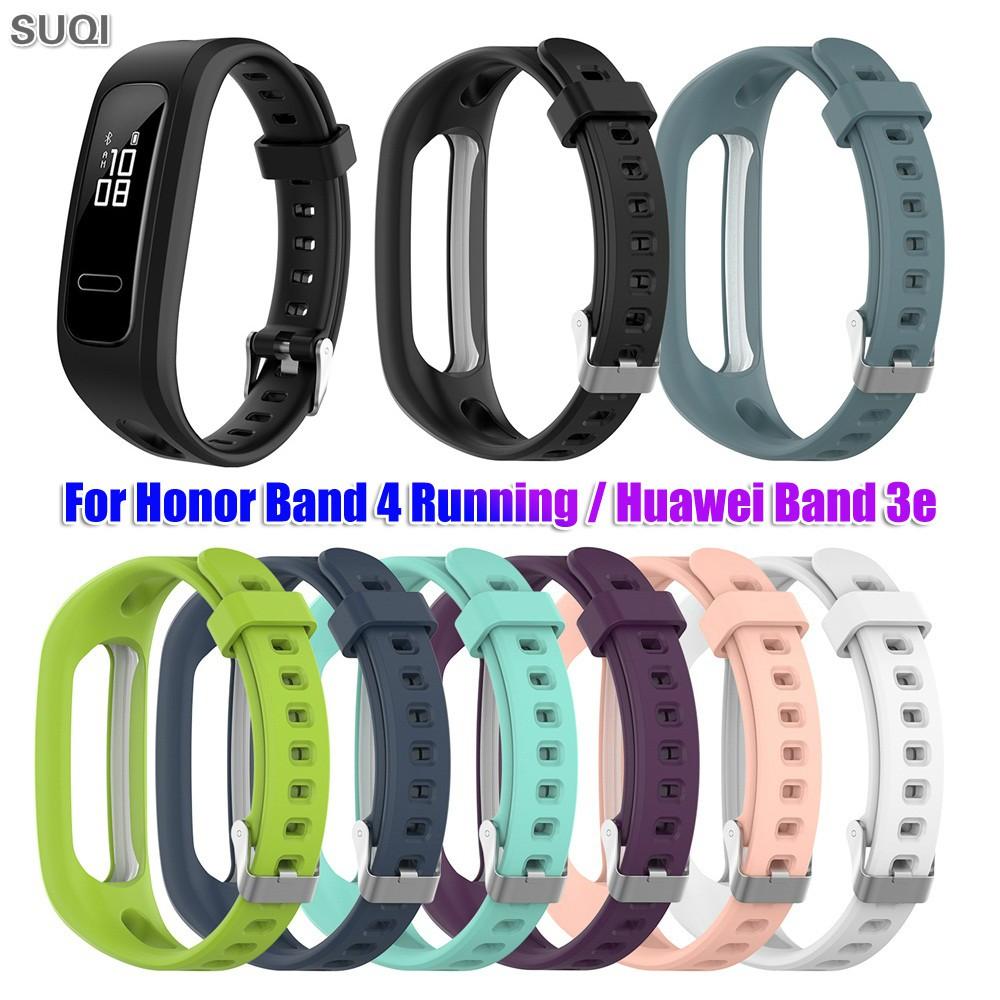 適用於 Huawei Honor 4 Running / Huawei Band 4e 3e 的 Suqi 替換矽膠錶帶
