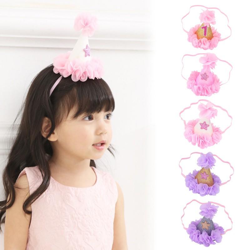 寶寶 周歲 帽子 / 生日飾品 / 可愛星星頭帶 / 兒童 生日帽子【國王皇后】