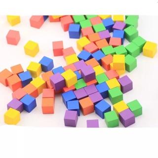 2cm空白木頭骰子 積木 桌遊棋 (有七色) 桃園市