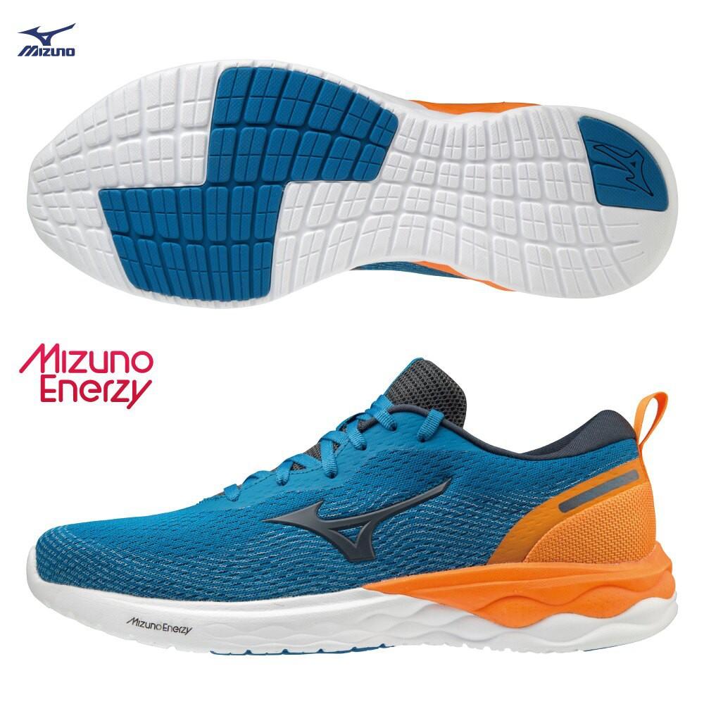 MIZUNO WAVE REVOLT 男鞋 慢跑 路跑 ENERZY中底 回彈 耐磨 藍【運動世界】J1GC208146