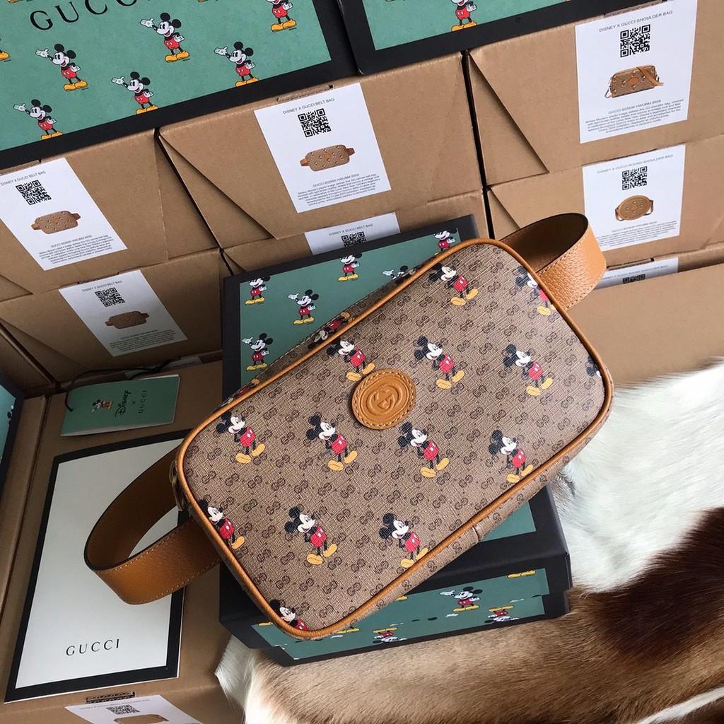 代購 GUCCI 古馳 Disney x Gucci迪士尼聯名款米奇 腰包 胸包 602695現貨