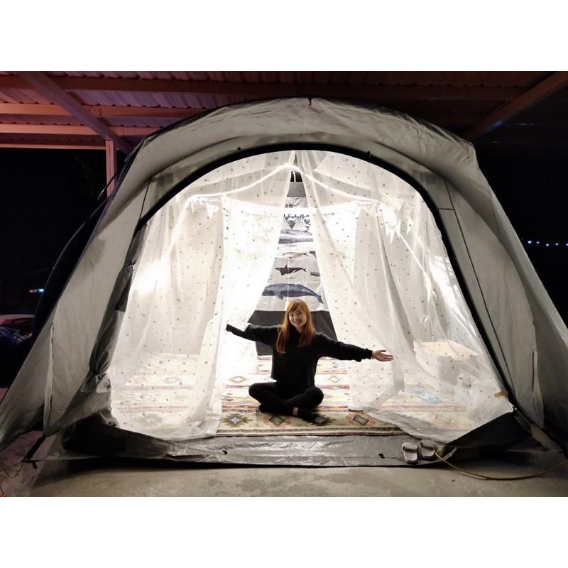 【潛水小妹】訂製款 迪卡儂4.2 4.1 5.2 6.3 充氣帳 彩繪天空 黑黑帳 帳篷 紗窗 紗門 星星 雪花 防蚊蟲