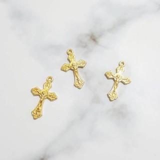🍭現貨供應🍭J622 25mm金色十字架掛件 手工DIY飾品配件合金 新北市