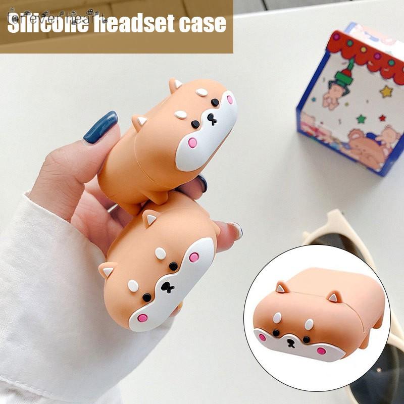 適用於 Airpods 1 2 3 Pro 耳機的可愛狗柴犬犬套保護
