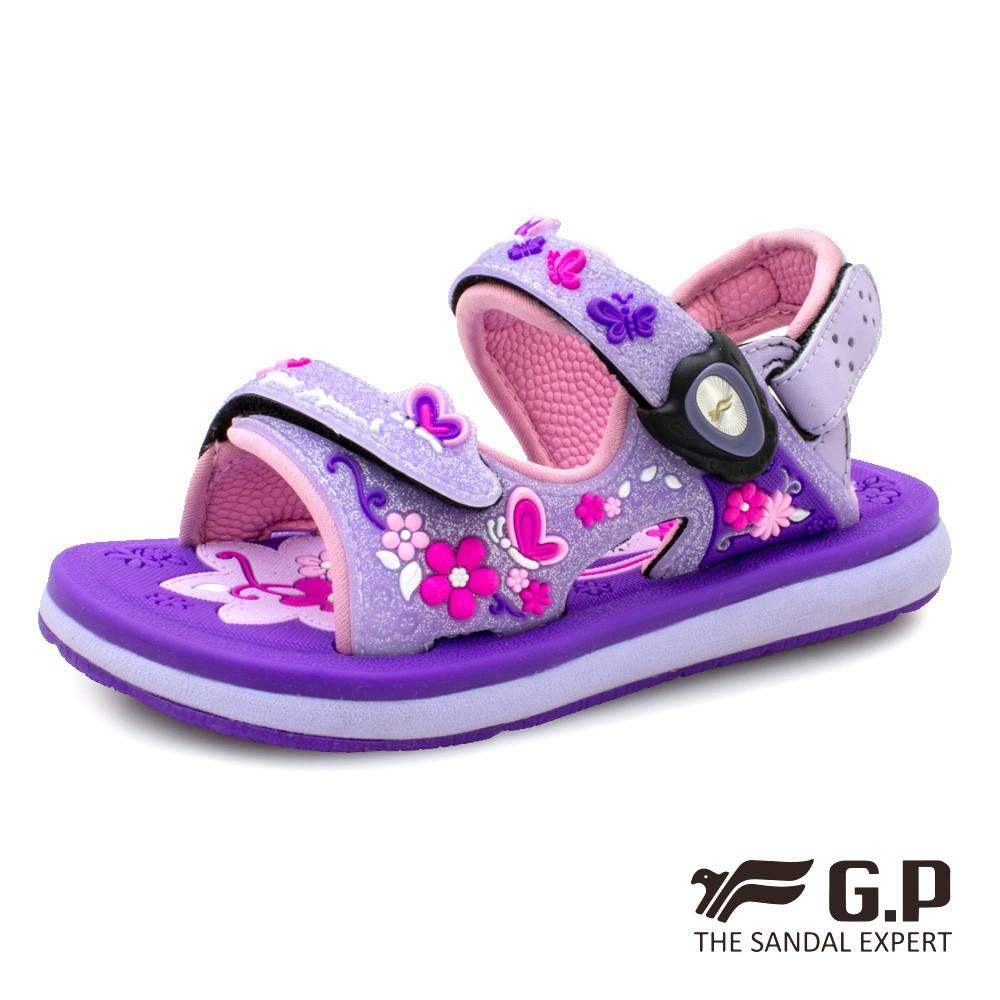 【G.P】夢幻公主風兩用童涼鞋(G9203BB)紫色/粉紅