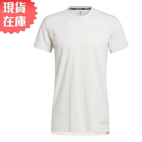 Adidas STU TECH 男裝 短袖 T恤 慢跑 訓練 吸濕排汗 前短後長 白【運動世界】GL0446【現貨】
