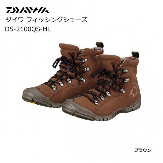 DAIWA 日本大和精工 DS-2100QS-HL 磯釣路亞  耐磨登礁釣魚鞋 防滑膠底 咖啡色 (全新出清)