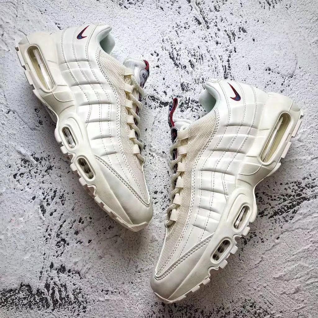 3c18f6a32b7e Nike Air Max 95 氣墊日本限定TT串標白色復古跑鞋AJ1844-101 | 蝦皮購物