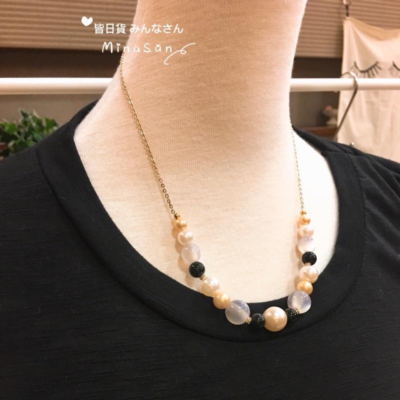 皆日貨MinaSun~日本進口 氣質珠飾項鍊 現貨
