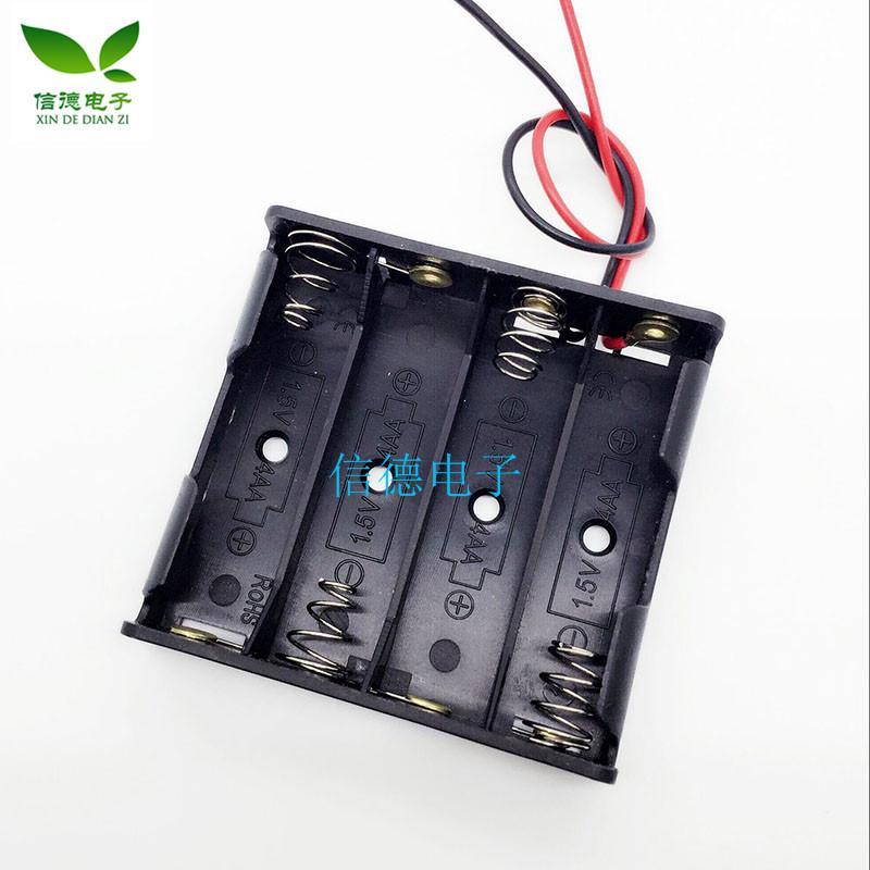 (台灣3號電池)無蓋 5號4節電池盒帶線 模型 電子 手工 玩具 家用 6v電池盒 X